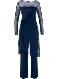 Completo pantalone da sera, bpc bonprix collection, Blu scuro