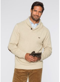 Pullover regular fit, bpc selection, Ecru melange
