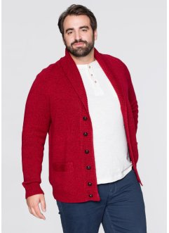 Cardigan regular fit, bpc selection, Rosso scuro melange