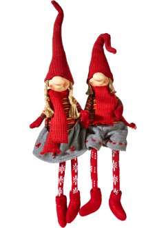 "Figure decorative ""Rudi & Merle"" (set 2 pezzi), bpc living"