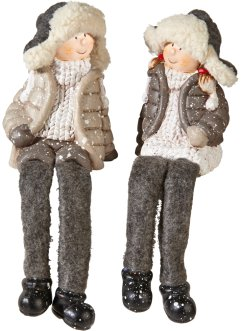 "Figure decorative ""Lars e Mimi"" (set 2 pezzi), bpc living"