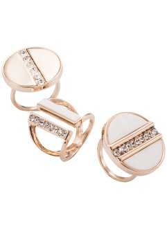 "Set di anelli ""Nude"" (set 3 pezzi), bpc bonprix collection"