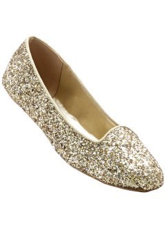 Ballerina, bpc bonprix collection, Oro glitterato
