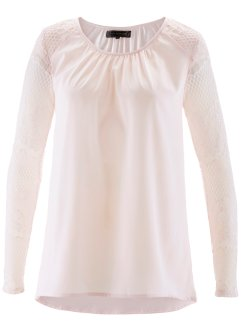 Tunica con pizzo, bpc selection, Rosa tenero