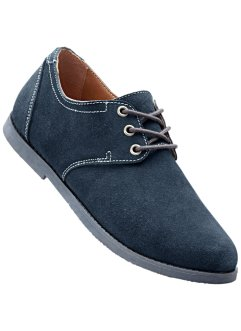 Scarpa in pelle, bpc selection, Blu scuro