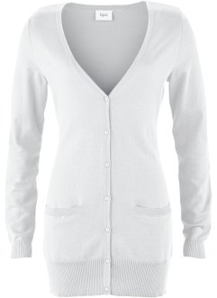 Cardigan, bpc bonprix collection, Bianco