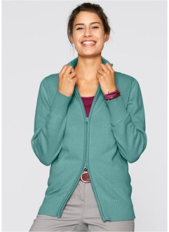 Cardigan di cotone, bpc bonprix collection, Blu minerale