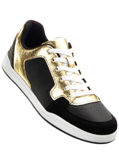 "Sneaker ""Marcell von Berlin for bonprix"", Marcell von Berlin for bonprix, Nero / oro"