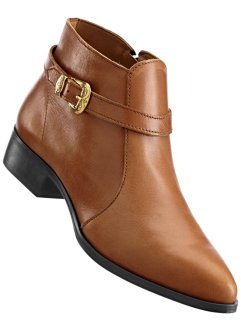 Stivaletto in pelle, bpc selection, Cognac