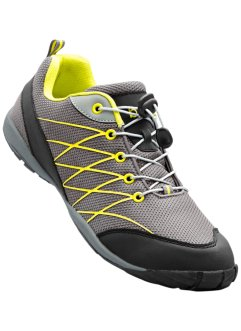 Scarpa da trekking, bpc bonprix collection, Grigio / nero / lime