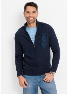 Cardigan regular fit, bpc bonprix collection, Blu scuro