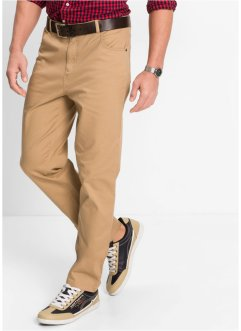 Pantalone elasticizzato classic fit straight, bpc bonprix collection, Cammello