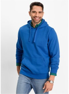 Felpa con cappuccio regular fit, bpc bonprix collection, Bluette