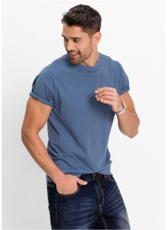 T-shirt (pacco da 3) regular fit, bpc bonprix collection, Melanzana + blu jeans + bianco