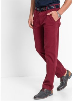 Pantalone chino elasticizzato slim fit, bpc bonprix collection, Bordeaux