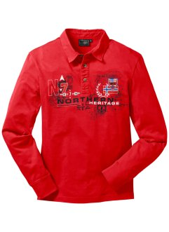 Polo a manica lunga, bpc bonprix collection, Rosso