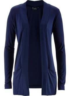 Cardigan in maglina elasticizzata, bpc bonprix collection, Blu scuro