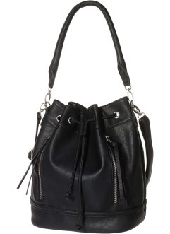 Borsa a sacchetto, bpc bonprix collection, Nero