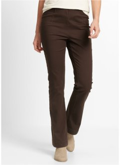 Pantaloni elasticizzati bootcut, bpc bonprix collection, Marrone scuro nuovo