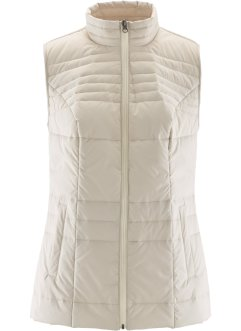 Gilet trapuntato, bpc bonprix collection, Beige ghiaia