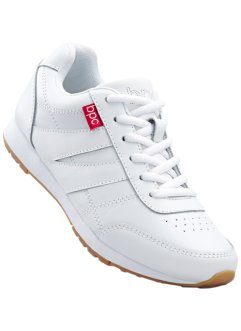 Sneaker in pelle, bpc bonprix collection, Bianco