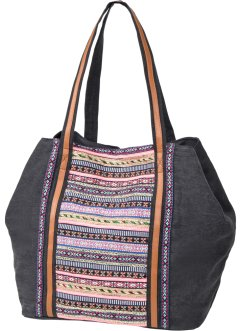 Borsa shopper in canvas, bpc bonprix collection, Grigio