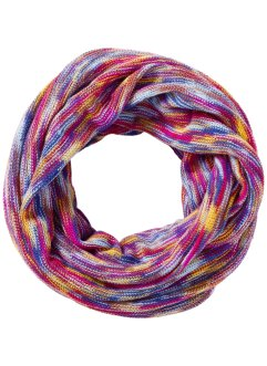 Sciarpina ad anello multicolore, bpc bonprix collection, Fucsia / multicolore