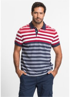 Poloa righe regular fit, bpc selection, Rosso / bianco / blu scuro a righe
