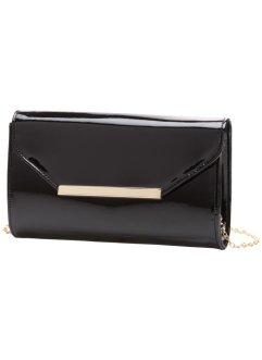 Pochette in vernice, bpc bonprix collection, Nero