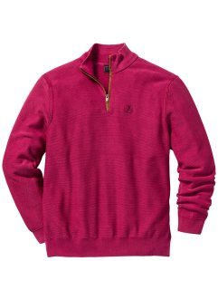 Pullover con cerniera regular fit, bpc selection