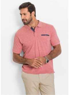 Polo regular fit, bpc selection, Rosso melange