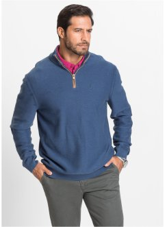 Pullover con cerniera regular fit, bpc selection, Indaco