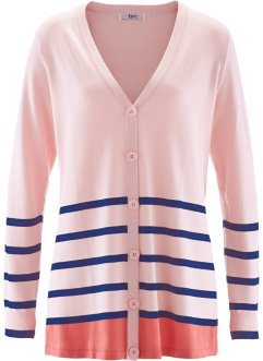 Cardigan, bpc bonprix collection, Rosa perlato a righe
