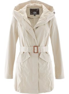 Parka con cappuccio e cintura, bpc bonprix collection