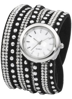 Orologio bracciale con strass, bpc bonprix collection