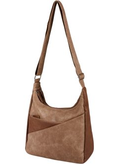 "Borsa a tracolla ""Bicolor"", bpc bonprix collection, Marrone chiaro / marrone"