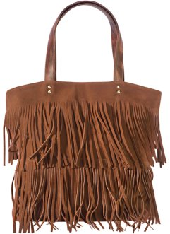 Borsa shopper con frange, bpc bonprix collection