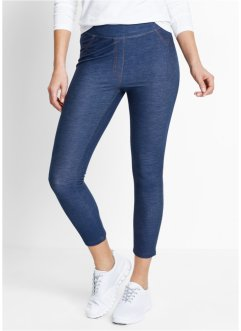 Leggings 7/8 effetto jeans, bpc bonprix collection, Indaco