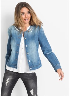 Giacca di jeans con pietre, BODYFLIRT, Medium blu denim