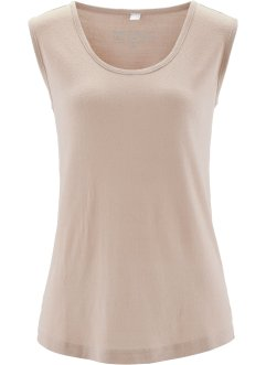 Top in maglina di seta, bpc selection premium, Beige