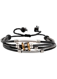 Bracciale in pelle a 4 fili, bpc bonprix collection