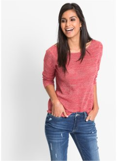 Pullover in lurex, BODYFLIRT, Corallo