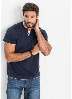 T-shirt regular fit, bpc bonprix collection, Blu scuro