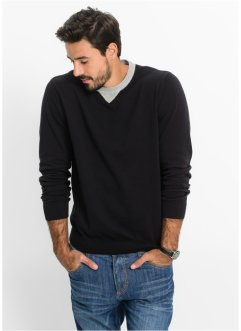 Pullover regular fit, bpc bonprix collection, Nero
