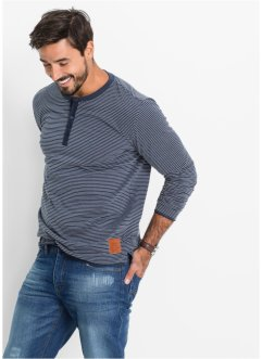 Maglia a manica lunga a rige regular fit, John Baner JEANSWEAR, Rosso a righe