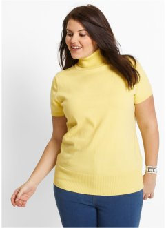 Pullover dolcevita, bpc bonprix collection, Giallino