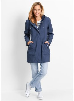Parka in softshell, bpc bonprix collection, Indaco melange