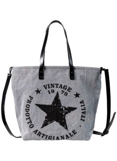 Borsa shopper in denim con stelle, bpc bonprix collection