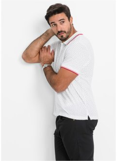 Polo regular fit, bpc bonprix collection, Bianco a pois