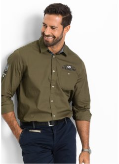 Camicia sportiva regular fit, bpc selection, Kaki